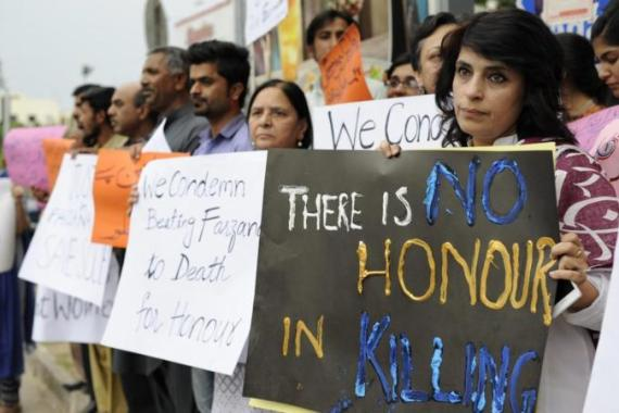 Honour killings are regularly reported in English-language Pakistani media, writes Mehmoud [EPA]