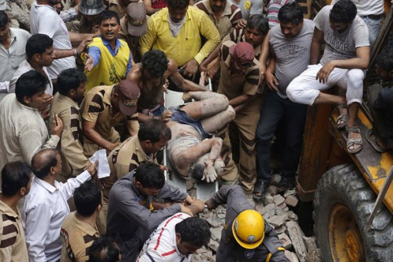 Numerous building accidents in India's large cities reportedly killed about 100 people in the past year [REUTERS]