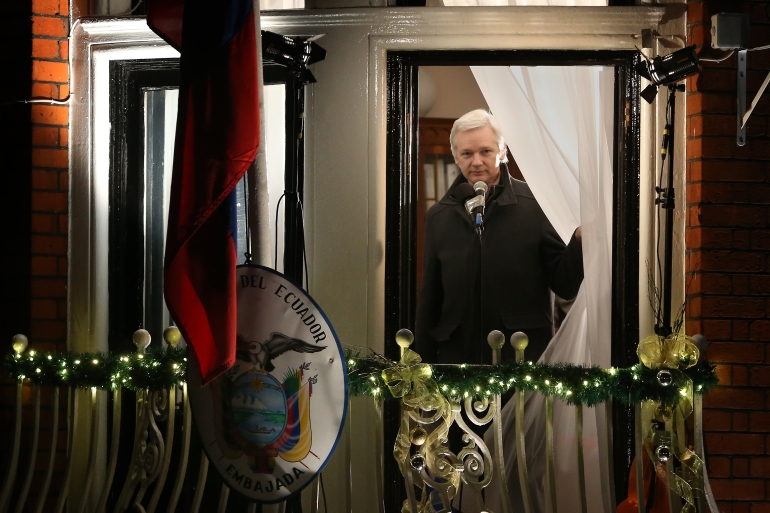Assange has been living in the Ecuadorian embassy since 2012 to avoid extradition to Sweden [Getty Images]