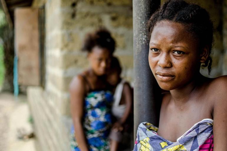 Hawa Daboh, who lives with her large family in a suburb of Kenema, lost her stepfather to Ebola.