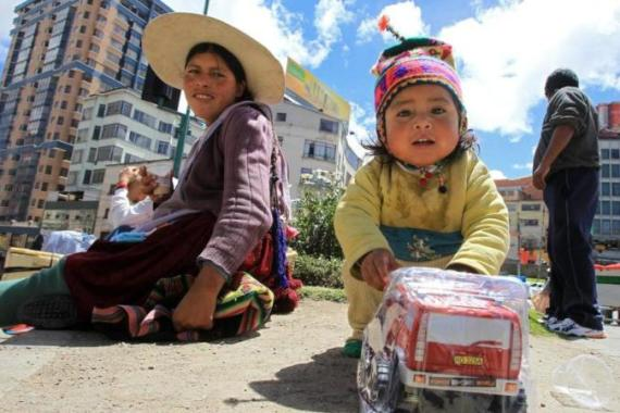Bolivians say children must work from an early age out of necessity [AFP]