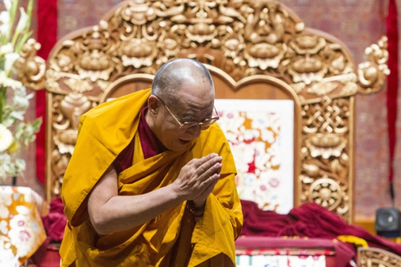 Dalai Lama also urged Buddhists to imagine an image of Buddha 'before they commit such a crime' [File - EPA]