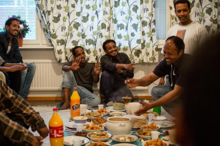 Most of the Muslims in Kiruna break their fast following Stockholm(***)s timetable.