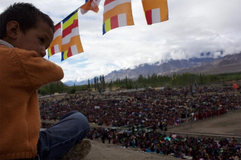 Ladakh(***)s first Kalachakra in 38 years saw hotels in the main town of Leh booked out, with followers bedding down in thousands of tents, empty government buildings and schools.
