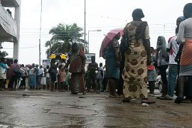 People say they queue for 6-8 hours for public healthcare in Ghana [Manasseh Azure Awuni/Al Jazeera]
