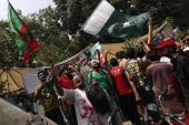 Imran Khan, the chairman of the Pakistan Tehreek-e-Insaf (PTI) political party, led an anti-government march to Islamabad [Reuters]