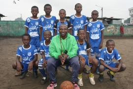 The MG football centre in Anoumabo village in Abidjan is led by coach Richard [Kingsley Kobo/Al Jazeera]