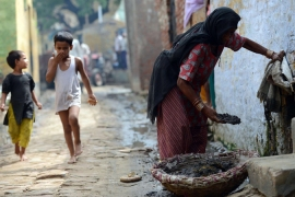 Rights groups have called for an end to practice of low-caste Indians manually collecting human waste [AFP]
