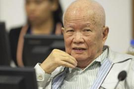 Khieu Samphan faces charges of crimes against humanity when he was a senior leader of the Khmer Rouge [EPA]