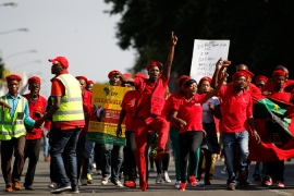Malema's supporters protested his innocence and slammed the charges as politically motivated [File photo: Reuters]