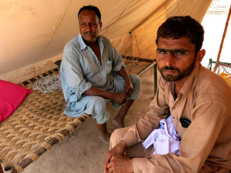 (***)This was not a flood, it was the day of judgement,(***) says 34-year-old Abdur Rauf (right), a resident of Faizabad village.