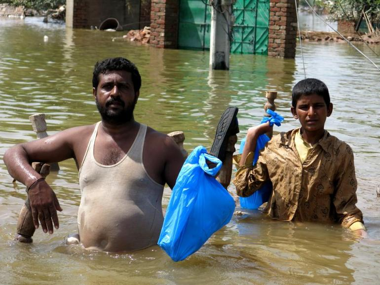 (***)They didn(***)t breach the dyke in time, and the whole area was flooded. Eventually the water just broke through,(***) said Abdul Majeed, 40, a farmer from Sher Shah village.