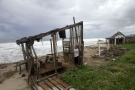 Hurricane Polo battered much of coastal southwest Mexico including Coyuca de Benitez in Guerrero State. [AFP]