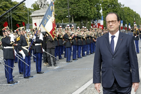 Hollande says the French military operations against ISIL will continue in coming days [Reuters]