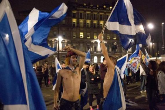 Scottish voters rejected independence from the rest of the UK by a margin of almost 10 percentage points [AP]