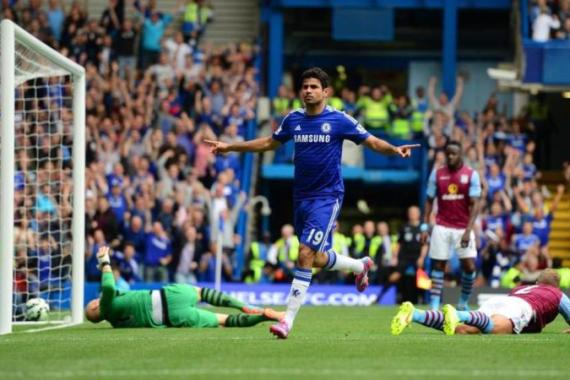 Costa has now scored eight goals for Chelsea in the league [Getty Images]