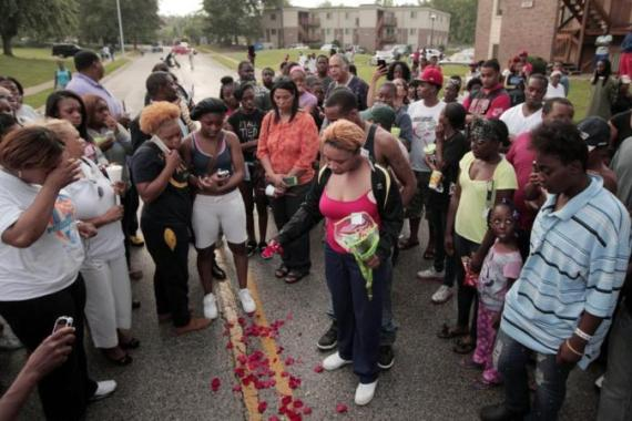 Michael Brown was shot and killed by police in the US town of Ferguson on August 9 [AP]