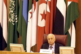 Arab League Secretary-General Nabil el-Araby called for the activation of an Arab defence treaty [EPA]