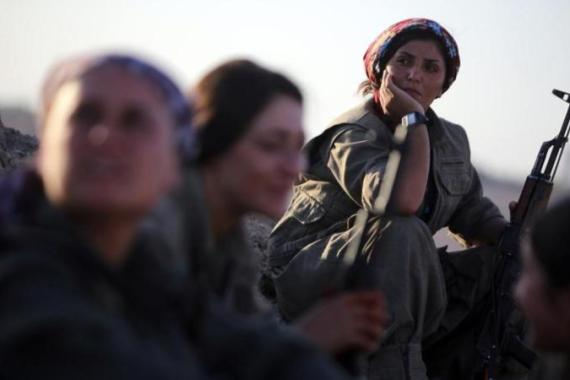 Many people are still not comfortable with seeing groups of strong women in battle, writes Zulver [AFP]