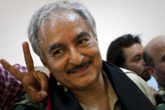 "Haftar vowed to 'liberate' port city of Benghazi from what he described as ""terrorists"" [EPA]"