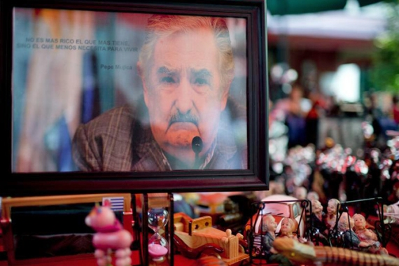 Outgoing President José Mujica, 79, is internationally renowned for his progressive social policies [AP]