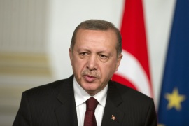 Erdogan described claims that his government supports ISIL as 'absolutely false and untrue' [AFP]