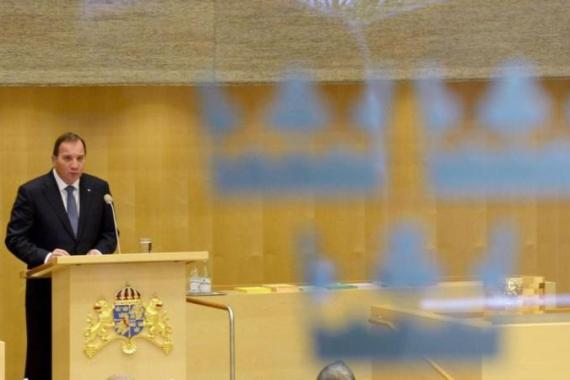 The new Swedish PM said the conflict can only be solved with a two-state solution with mutual recognition [Reuters]