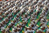 Iranian Revolutionary Guard Corps march during an annual military parade [EPA]