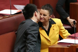 Senator Jacqui Lambie (R) has denounced Islamic law and demanded a nationwide ban on the veil [Getty Images]