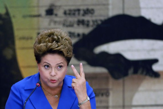 Brazil's incumbent President Dilma Rousseff is running for re-election with the Workers Party, PT [AP]