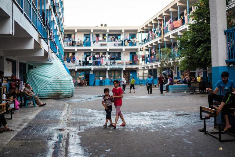 An estimated 60,000 civilians - more than half of whom are children - are still living in shelters across the Gaza Strip, including UN-run schools.