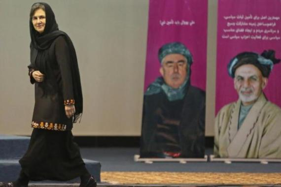 During the campaign, some critics claimed Ghani's wife, Rula, would be a liability [AP]