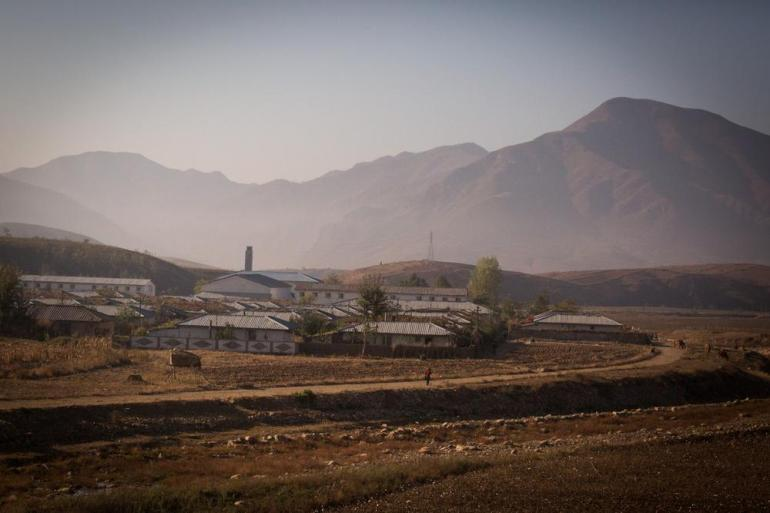 A cooperative farm on the outskirts of Pyongyang.