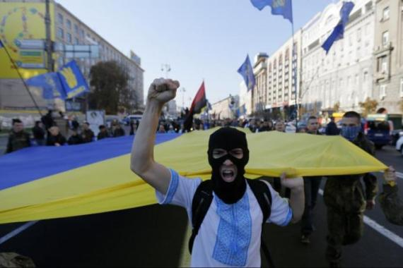 Right-wing Party Svoboda did not win any seats in Ukraine's new parliament [AP]