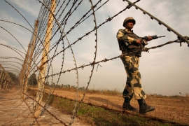 Shelling along the India-Pakistan border has forced the evacuation of residents of border areas [Reuters]