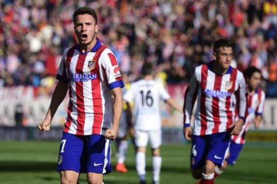 Niguez put Atletico head just before the half-time whistle [AFP]