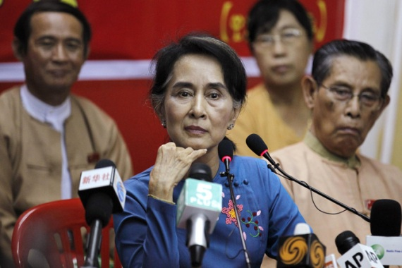 Suu Kyi is currently barred from running for president by Myanmar's military-drafted constitution [Reuters]