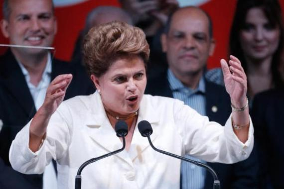 Brazilian President Dilma Rousseff was re-elected for a second term in late October [AP]