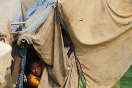 The violence has displaced some 140,000 Rohingya Muslims [Reuters]