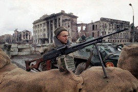 Russian troops entered Chechnya in December 1994 to quash the breakaway region's independence drive [AP]