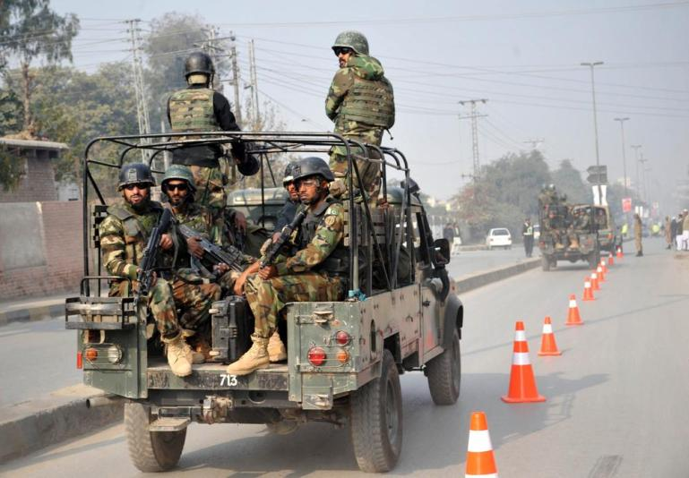 A huge contingent of Pakistani troops were sent to conduct a rescue operation at the school.