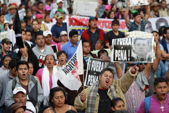 The case of the missing students has put a spotlight on Mexico's struggle to end corruption and impunity [EPA]