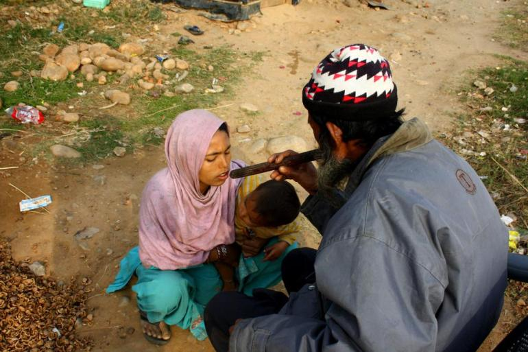 With no medical facilities available, the Rohingya refugees rely on the services of faith healers from the community.