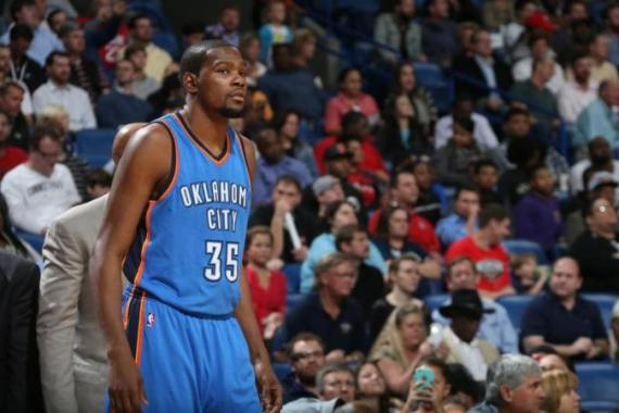 Durant had missed nearly seven weeks due to a broken foot [Getty Images]