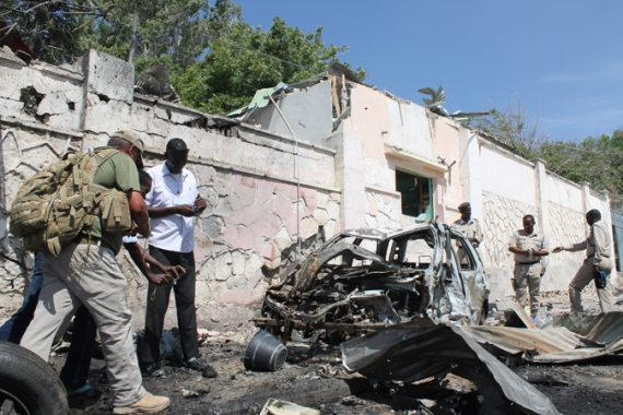 Wednesday's explosion occurred in the airport zone in the capital Mogadishu [Mustaf Abdi/Al Jazeera]