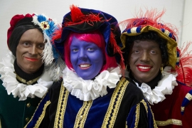 'Black Pete,' part of Dutch Christmas festivities, is an example of a conflicting view of what causes offense [EPA]