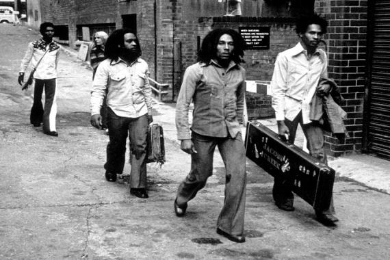 Bob Marley and the Wailers arrive at a London recording studio to make some music [Getty Images]