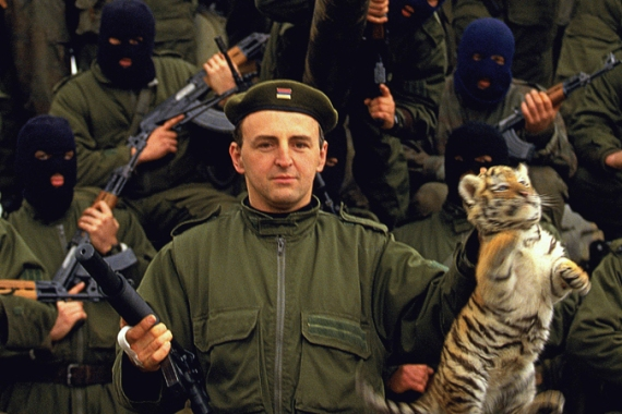 The 'Tigers' were first accused of war crimes during fighting in Croatia 1991 [Ron Haviv/Al Jazeera]