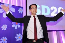 Sweden Democrats party leader Jimmie Akesson has compared Islam to Nazism and Communism [EPA]