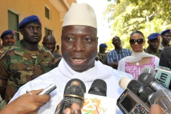 President Jammeh, 49, came to power in a coup in 1994 [AFP]
